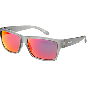 Alpina Kacey Okulary rowerowe, cool grey matt/red mirror
